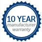 Ten Year Manufacturers Warranty